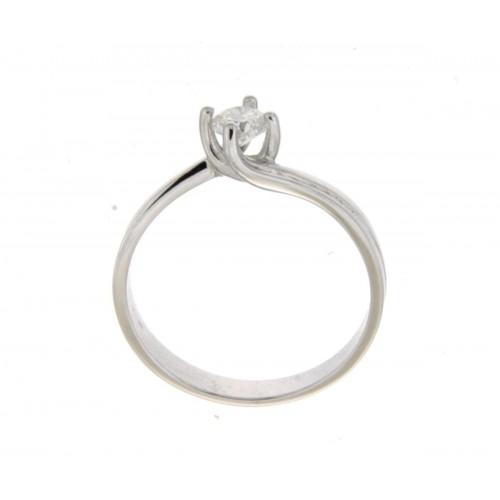 Anello solitario Valentino oro bianco diamante carati 0.30 G-VS1