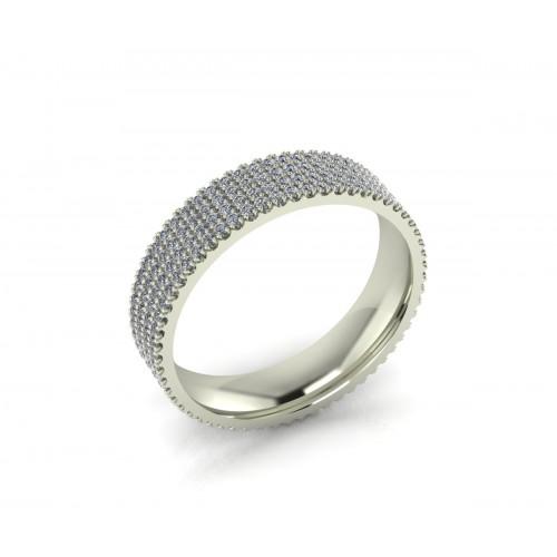 Anello fascia di brillantidiamanti carati 1,50 D-VVS1