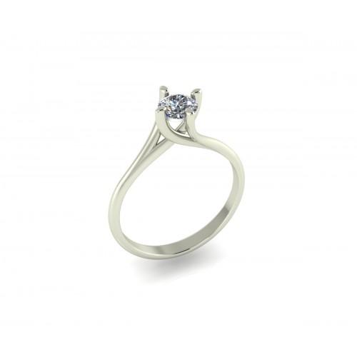 Anello solitario Valentino diamante GIA ct. 0.42 G-SI2