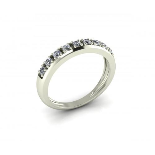 Anello veretta di diamanti carati 0.27 g-vs1