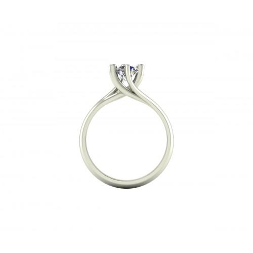 Anello solitario Valentino diamante GIA ct. 0.50 D-VS2