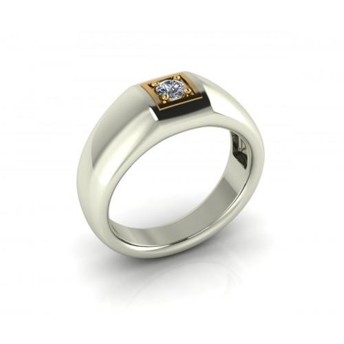 Anello solitario diamante certificato IGI carati 0,20 G-VS1