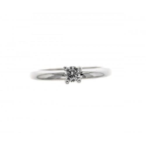 Anello solitario semplice diamante certificato IGI ct 0.20 e-vvvs2