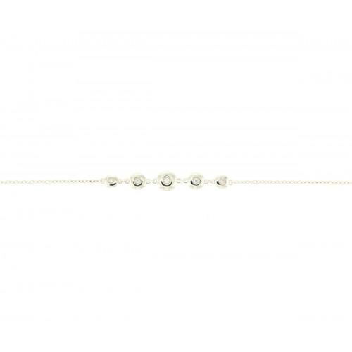 Bracciale in oro bianco con diamanti carati 0.07 G-VS1