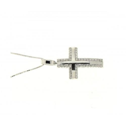 Collana croce diamanti carati 0,15 G-VS1