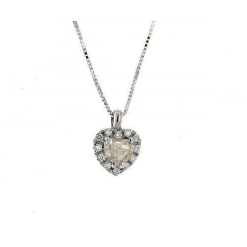 Punto luce diamanti  bianchi ct 0.09 g-vs1 FY-VS2 ct 0.36 taglio cuore