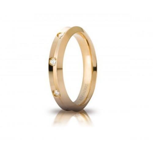 Fede UnoAerre Corona in oro giallo con 8 diamanti ct. 0.16