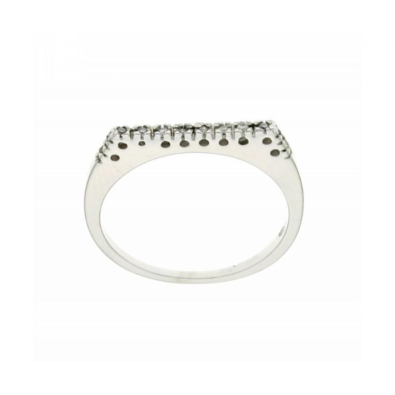 Anello veretta  diamanti carati 0,06 G-VS1