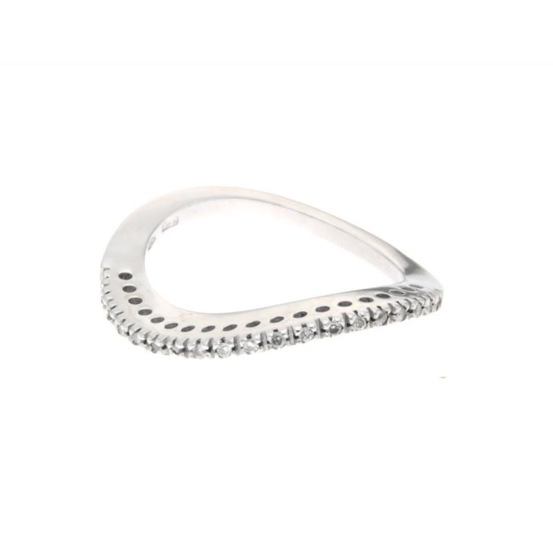 Anello mezza veretta di diamanti carati 0,10 Colore G-VS1