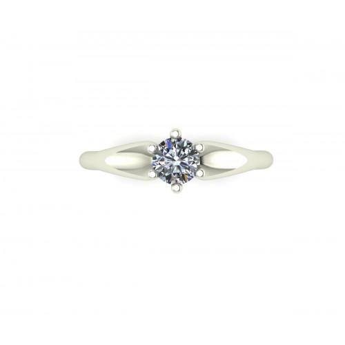 Anello solitario con diamante gia carati 0.40 E-IF