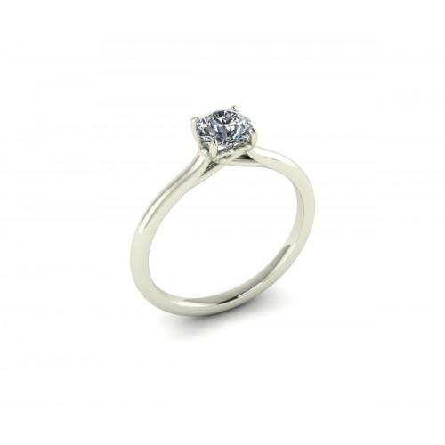 Anello  solitario diamante certificato gia carati 0,62 G-IF