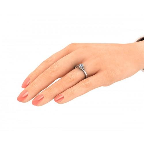 Anello solitario diamante certificato GIA carati 0.32 D-IF