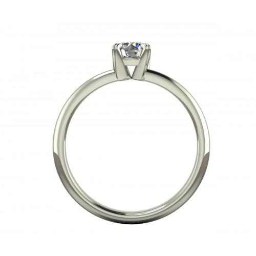 Anello solitario  diamante certificato gia carati 0,40 G-IF