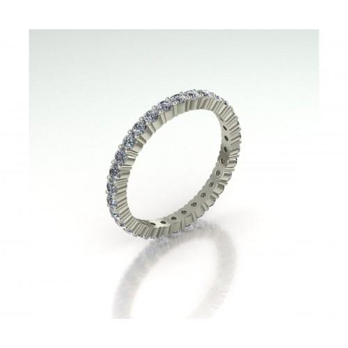 Anello eternity diamanti carati 1.03 G-VVS1