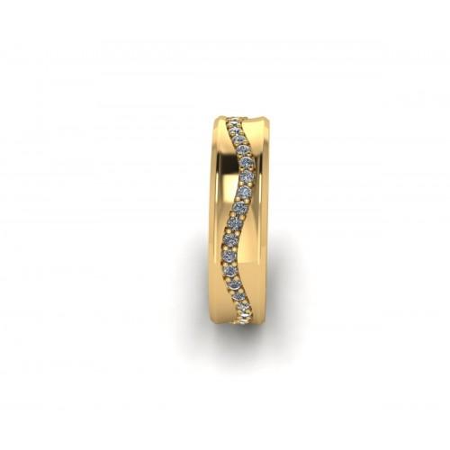 Anello fedina con diamanti a giro completo carati 0.33 g-vs1