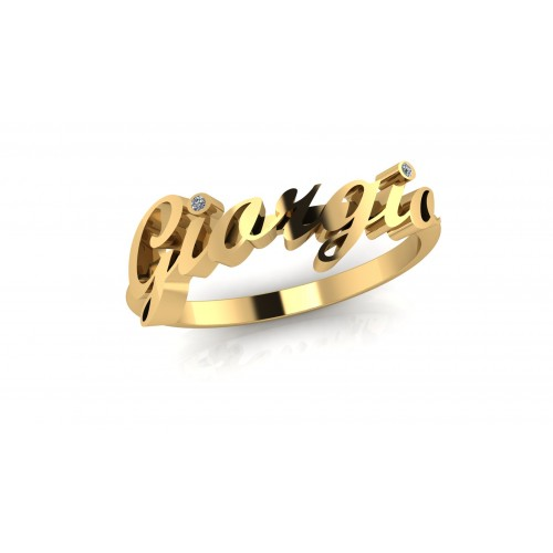 Anello nome Giorgio con diamante carati 0,02 g-vs1