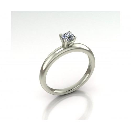 Anello solitario diamante certificato GIA carati 0.30 D-IF