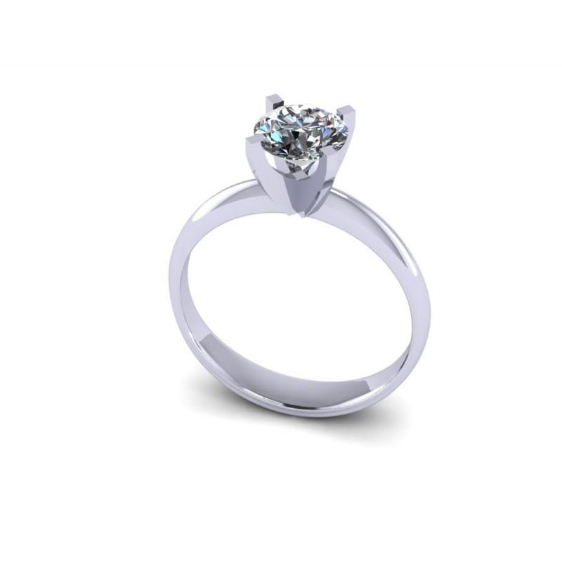 Anello solitario platino diamante certificato GIA carati 1.03 G-VVS2