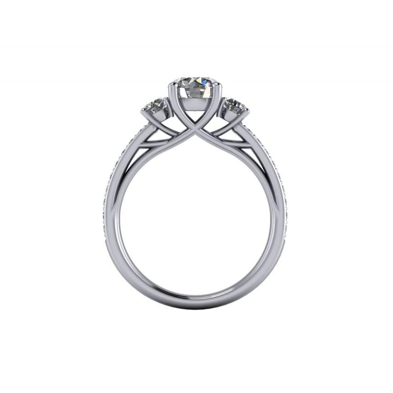 Anello in platino modello trilogy diamanti certificati GIA carati 1.50 G-IF