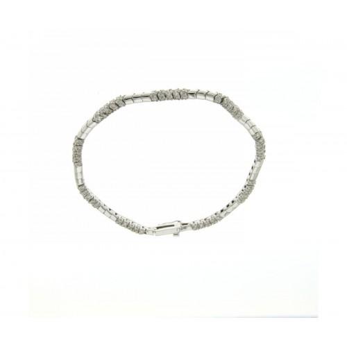 Bracciale semirigido con diamanti carati 1,80 G-VS1
