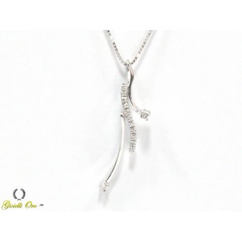 Collana fantasia con diamanti carati 0,06 G-VS1