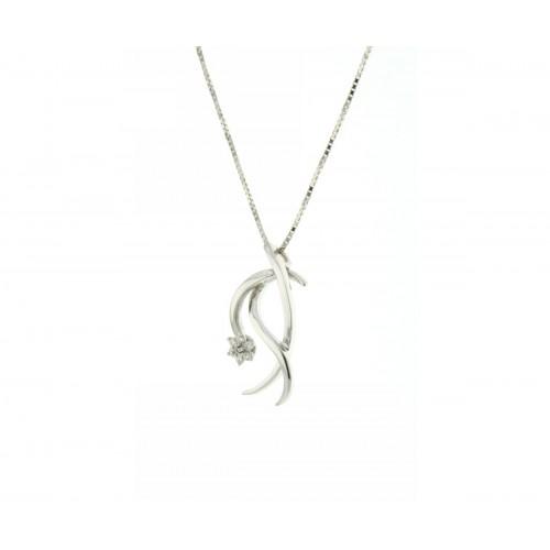 Collana fantasia con diamanti carati 0,035 G-VS1