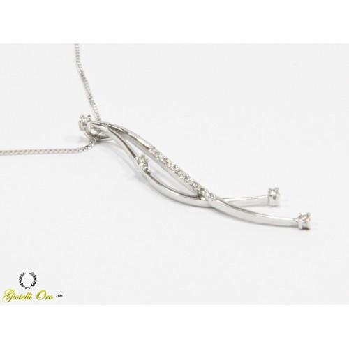 Collana con diamanti carati 0,06 G-VS1