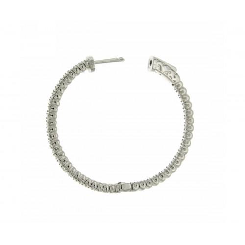 Orecchini a cerchio con diamanti carati 0,94 G-VS1