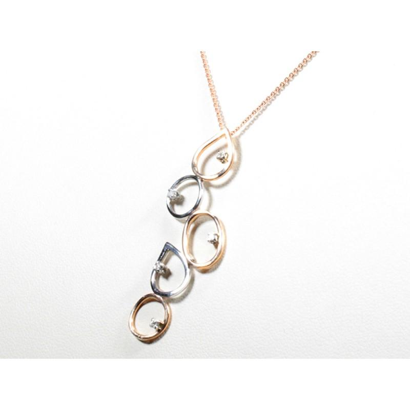 Collana  con diamanti carati 0,05 G-VS1