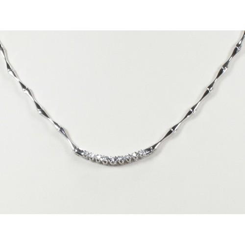 Girocollo semirigido con diamanti carati 0,12 G-VS1