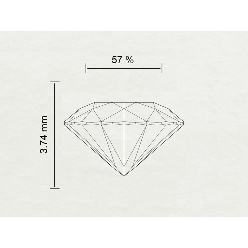 Diamante Certificato HRD Carati 0,83 Colore F Purezza IF Codice Prodotto: 2-111113-492