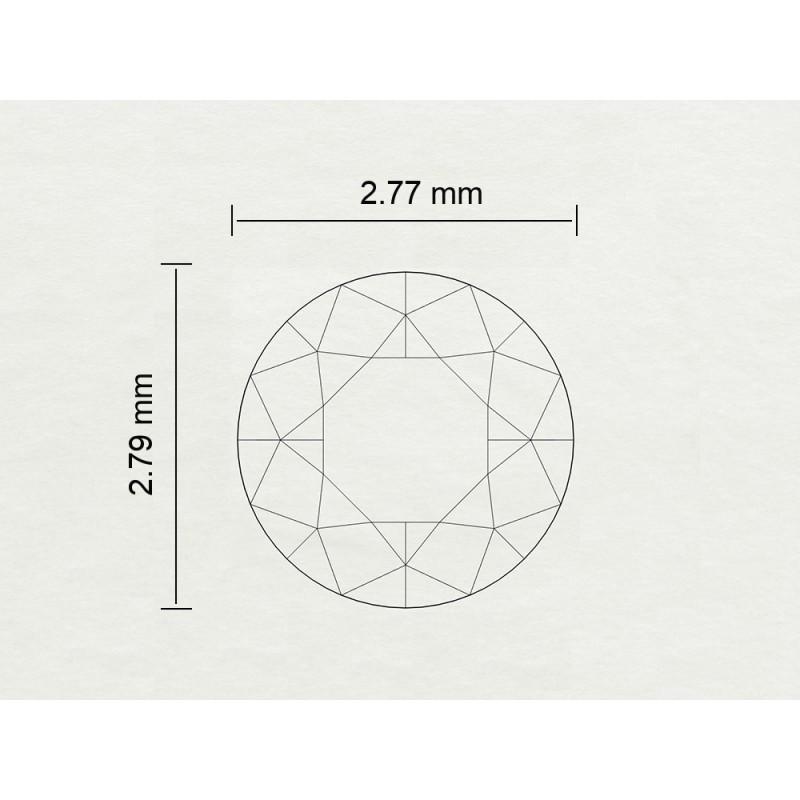 Diamante Certificato HRD Carati 0,08 Colore E Purezza VS1 Codice Prodotto: 3111111282-9