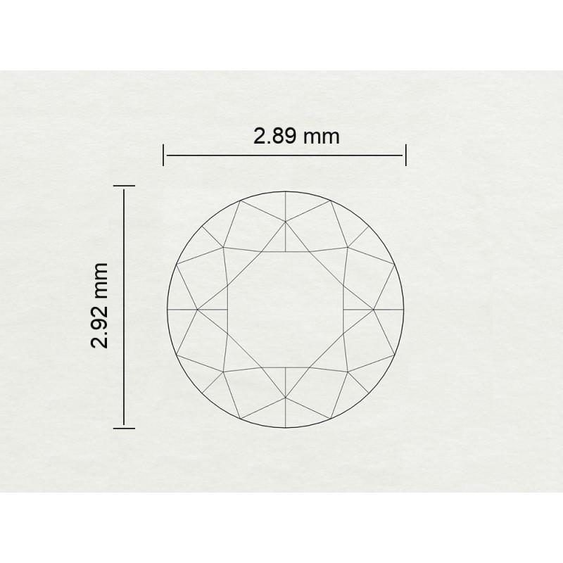 Diamante Certificato HRD Carati 0,09 Colore E Purezza VS2 Codice Prodotto: 311111128314