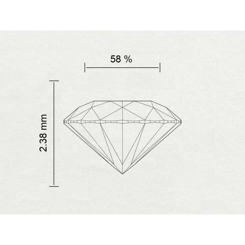 Diamante Certificato HRD Carati 0,22 Colore E Purezza SI1 Codice Prodotto: 311111199814