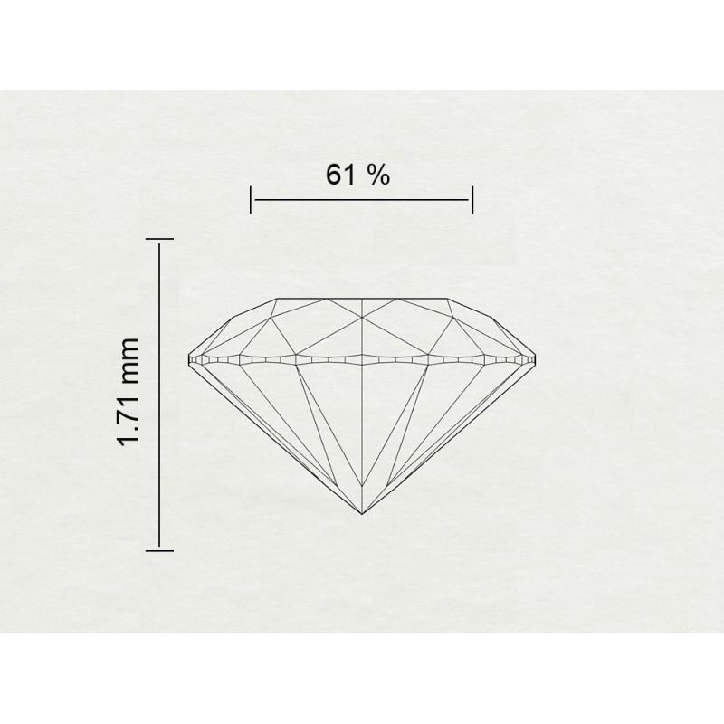Diamante Certificato HRD Carati 0,08 Colore J Purezza VS2 Codice Prodotto: 311111199849