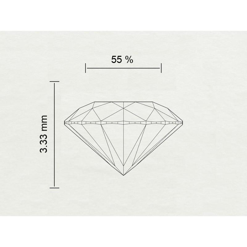 Diamante Certificato GIA Carati 0,59 Colore E Purezza SI2 Codice Prodotto: 7463973814